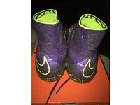 Purple/ green hypervenom sock bolts