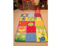 Large, washable, multi-coloured Mothercare baby playmat