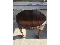 Ocassional Side Table with Claw Feet , in good condition . Size Diameter 24in Height 19in