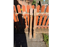 Traditional Deck post x 6 for £2 each or 6 for £10 used