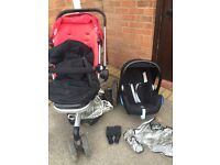 Quinny Buzz 3 - Stroller, Footmuff, Maxi Cosi Cabriofix carrycot, adaptors and raincovers