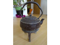 Cast iron Japanese tea pot at least 100 yrs old