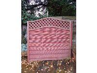 3 woodbury fence panels 1.8m x 1.8m used
