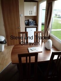 Spacious 3 bed caravan sited on Whitehouses in Towyn North Wales