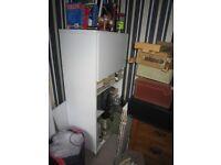 White shelf unit with doors - Free !