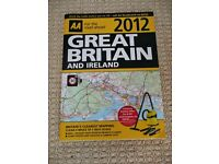 AA Great Britain And Ireland 2012 Road Atlas / Road Map Book / Route Planner 4 miles to 1 inch Scale