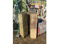 3 x Thick wooden posts/bollard's (30 cm sq x 135 cm h)