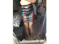 Boohoo Mesh sequin skirt size 8