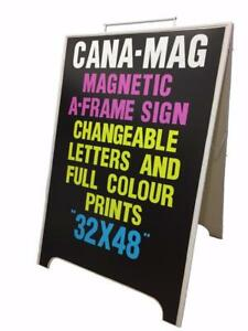 The Ultimate Changeable A Frame/Sandwich Board Sign ... Magnetic.