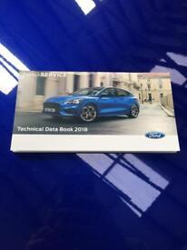 FORD SERVICE TECHNICAL DATA BOOK 2018. FOCUS RS. FOCUS ST. FIESTA ST. TDCI.