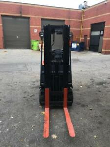 Used Toyota 5FBC13,forklift, lift truck 2450lbs capacity 15.5ft Max Lifting Height decent battery