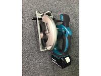 Makita dss611 cordless 18v circular saw 4.0ah bat new style lights