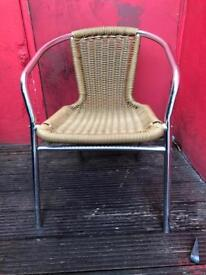 15 metal and wicker chairs, dining / garden