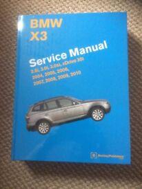 BMW X3 Service/Workshop manual