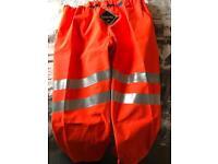 Brand new Gore-Tex men's Hi-Vis trousers.