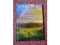 Hardback Week to View 2018 Diary with Reference Calendar & Notes Section Christmas Gift Idea