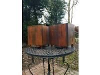 Large oak wooden planters