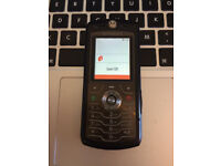 VGC Very Good Unlocked Motorola L7 Mobile Phone in Black + Charger + Sim Card