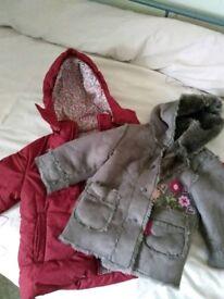 6- 12m girl coats
