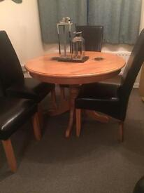 Solid round table only no chairs