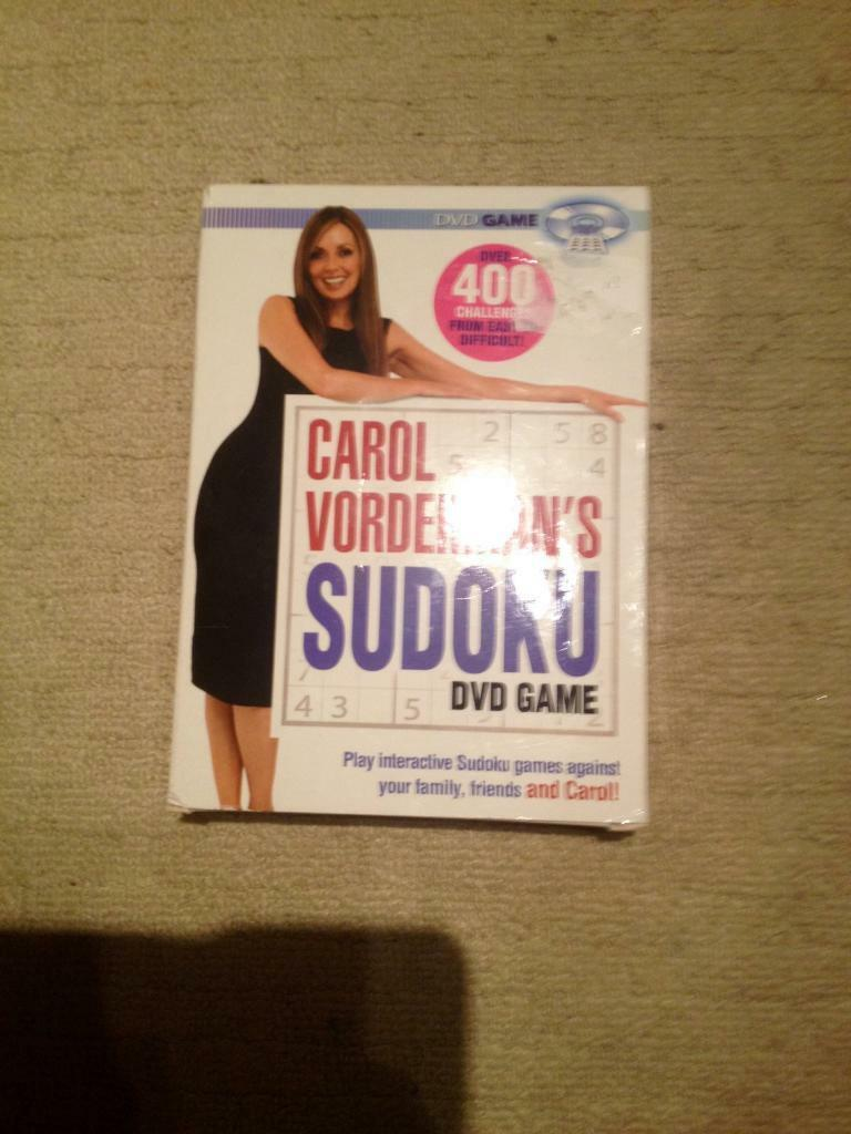 CAROL VORDERMAN SUDOKU DVD GAME 2005 EDITION. PLAY AGAINST YOUR FRIENDS, FAMILY AND CAROL!
