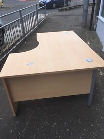 Right hand beech corner desk Immaculate condition