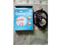 JML Cable Tidy in Black 1.5m