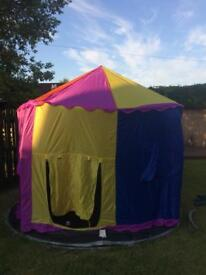 Circus style trampoline tent