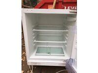 Integrated under surface Zanussi fridge