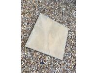 Buff Riven 600x600 Paving Slabs