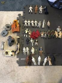 Star Wars Figures dating back to 1977