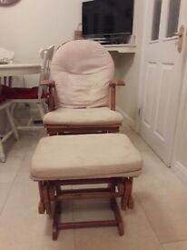 Habebe recliner glider rocking chair and stool