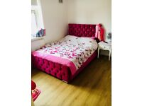 Crushed velet double bed