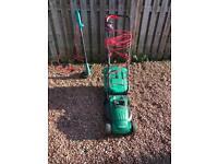 Qualcast Lawn Mower & Bosch Strimmer