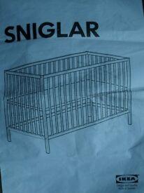 Ikea Sniglar baby's cot