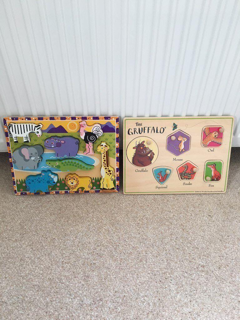 Gruffalo puzzle and safari puzzle