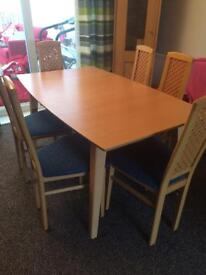 Dining Table & 6 chairs with display unit