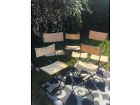 Vintage lafuma camping chairs, 2x director 2x chair 3x stools