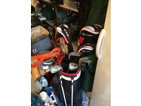 Fazer Golf clubs and bag, barley used, nearly new.