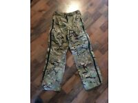 Fishing, army waterproof trousers