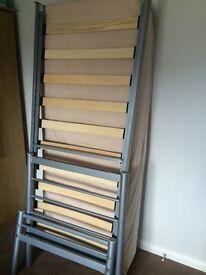 2 X metal framed 2ft 6 wide single beds