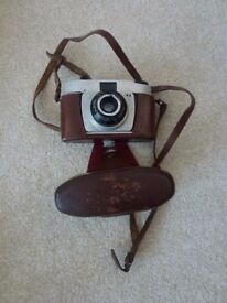 Vintage Adox 35mm camera in leather case
