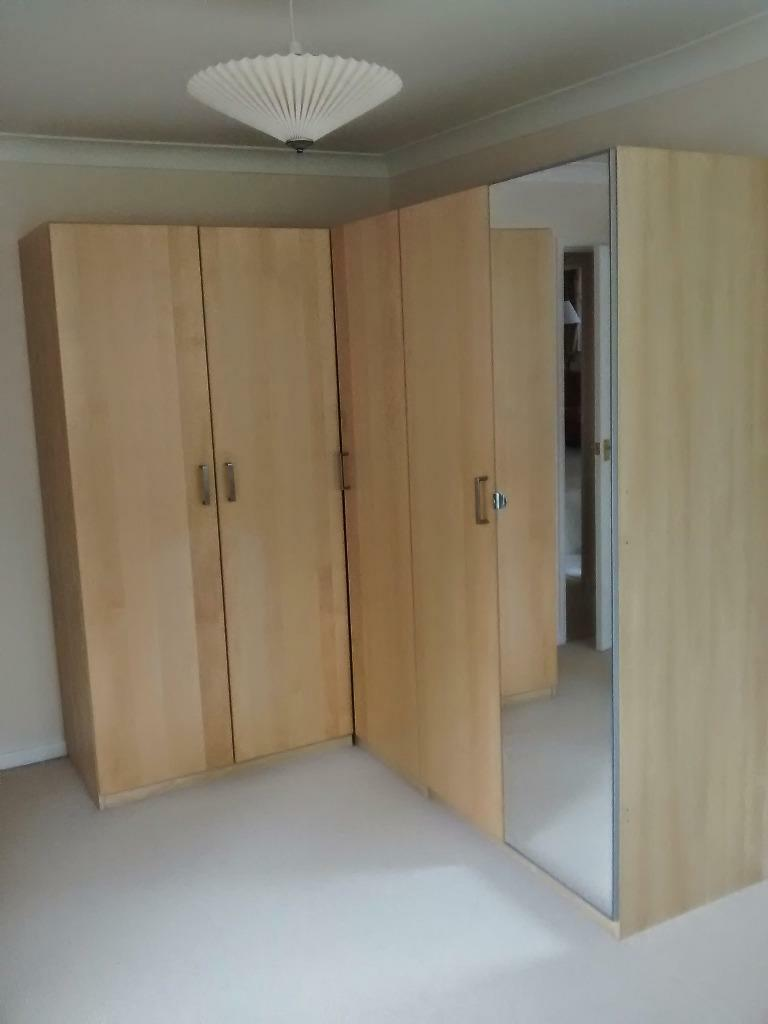 Ikea Aspelund Wardrobe Inside ~ Ikea Pax double wardrobes Birch veneer finish All fittings