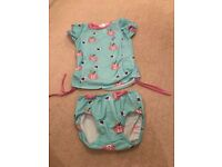 Splash About Sun Protection Rash Top & Bottoms Size 1-2 Years