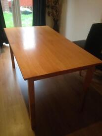Solid wood dining table