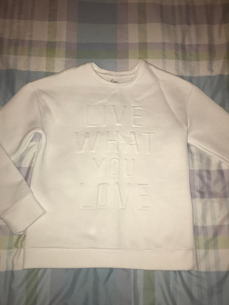 Ladies lovely quality jumper cream size 10