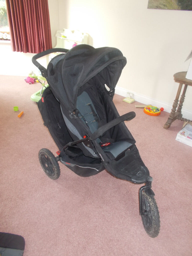 Single/double pushchair including all accessories. Phil & Teds explorer