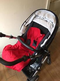 Britax b-smart travel system with 2 chassis