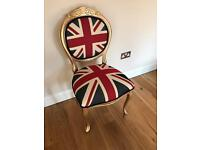 Union Jack Vintage Shabby Chic Dining Bedroom Dressing Room Hallway Chair
