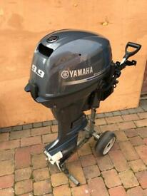"""NEW"" YAMAHA 9.9 Outboard Boat Engine .Electric Start with Remotes.Rib Dingy Fishing Avon Zodiac"